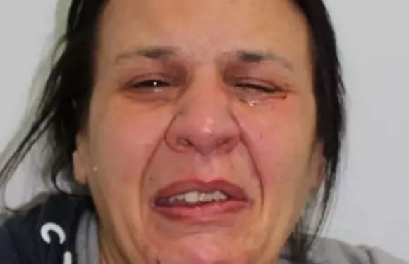 Conwoman who stole more than £10,000 cries her eyes out in police mugshot