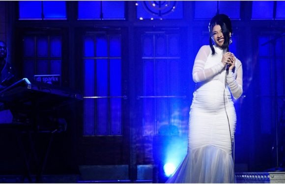 Cardi B's Pregnancy Reveal on SNL Was All About the Dress, Don't You Agree?