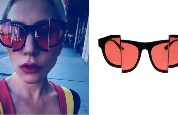 Lady Gaga's Sunglasses Are So Trippy, Even Willy Wonka Couldn't Handle Them