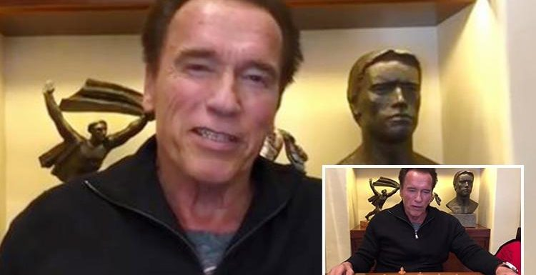 Arnold Schwarzenegger thanks fans for support after open heart surgery but says he's not 'feeling great yet'