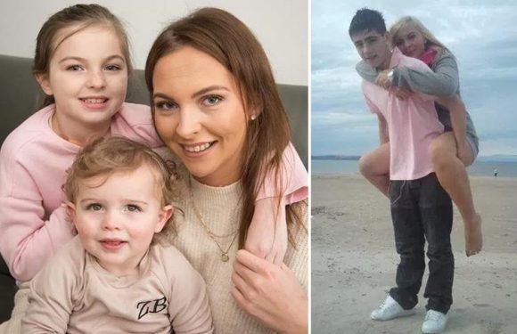 Mum, 23, whose teen boyfriend was killed by drink driver now told daughter, 7, has cancer