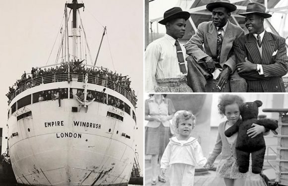 Historic pictures of the Windrush generation show the arrival of hundreds of immigrants who made Britain their home after World War Two