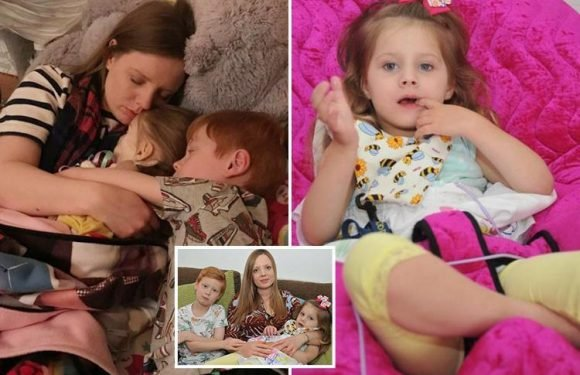 Mother describes heartbreaking 'kisses and cuddles' as she held her dying four-year-old daughter in her final moments
