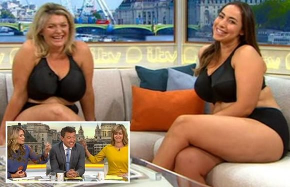 Ben Shephard is left speechless as two London Marathon runners appear on Good Morning Britain in their underwear
