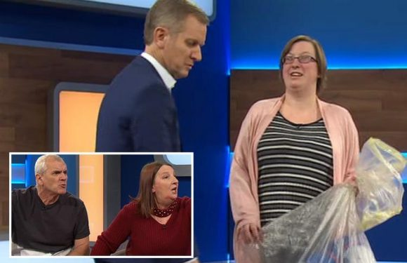 Jeremy Kyle guest brings her mum's dirty THONGS on the show after accusing her of having sex on her sofa and leaving 'suspicious stains'