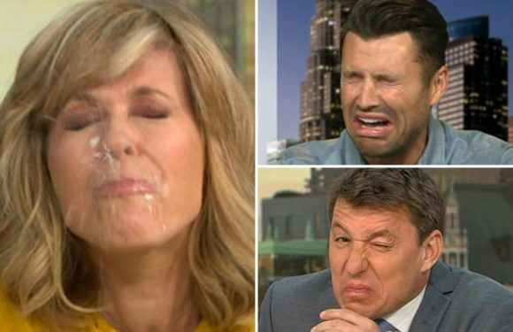 Good Morning Britain fans left in stitches at Kate Garraway's face after Mark Wright challenges her to suck on a lemon