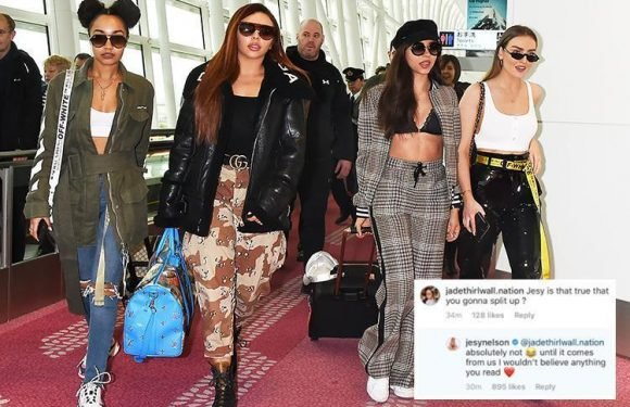 Little Mix forced to deny rumours the band has secretly split as Jesy Nelson reassures fans they're still together