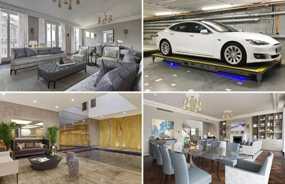 Inside seven-bedroom Notting Hill mansion with James Bond-style parking system and huge swimming pool on sale for £25MILLION