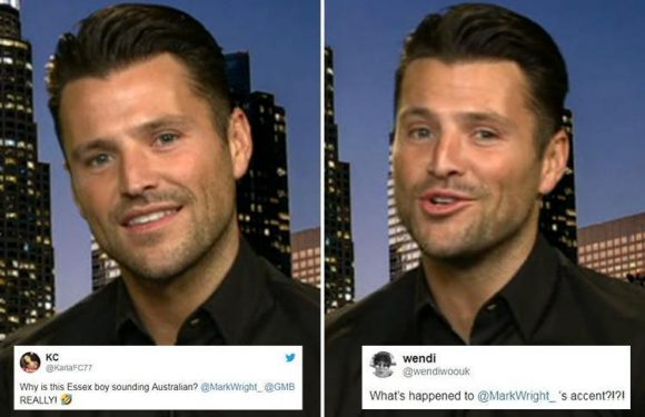 Good Morning Britain fans left baffled by Mark Wright's new 'Australian' accent after producers accidentally mute him in technical blunder