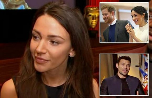 Michelle Keegan's joy as she reveals husband Mark Wright will be returning to the UK to cover the Royal wedding next month