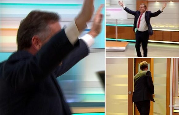 Piers Morgan EXITS the Good Morning Britain studio as he 'celebrates huge lottery win'
