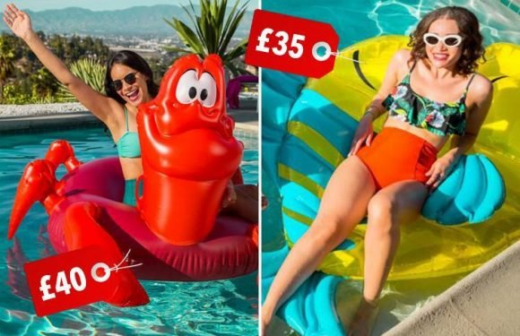 Calling all Little Mermaids… Sebastian and Flounder inflatables are coming soon and we want to be part of their world