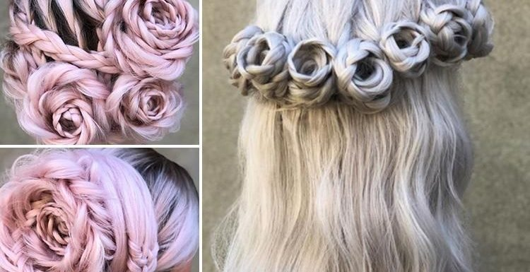 Braided roses are the hot new hair trend for summer… and they're SO pretty