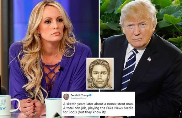 Donald Trump hits back at Stormy Daniels' sketch of suspect who 'threatened her to keep quiet about tryst'