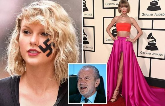 Lord Sugar mocked for believing satirical Taylor Swift story reporting she's had a swastika tattooed on her FACE