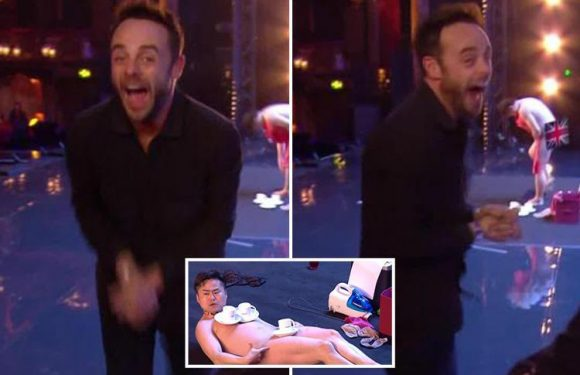Ant McPartlin in hysterics as he watches Britain's Got Talent act strip NAKED in new video from new series