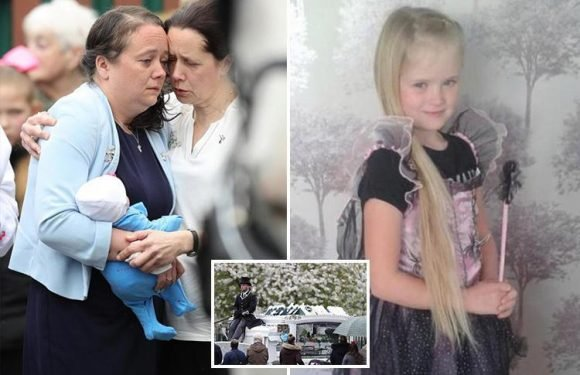 Mylee Billingham's mum clutches a doll at funeral of daughter 'killed by brother of SAS Who Dares Wins star'