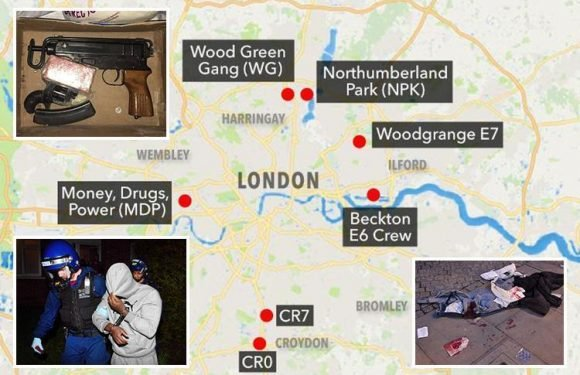 Inside the brutal rival gangs fuelling London's shocking wave of street violence that has left more than 50 dead so far this year