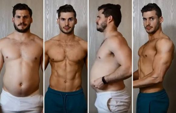 Incredible time lapse video charts man's 12-week transformation from tubby to toned