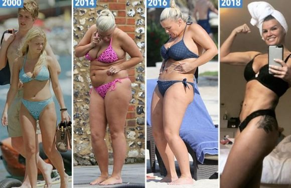 Kerry Katona's incredible transformation as she shows off her new abs after 10 years of yo-yo dieting