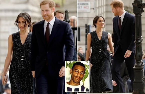 Prince Harry and Meghan Markle attend Stephen Lawrence memorial event hours after Kate Middleton gave birth to new royal baby