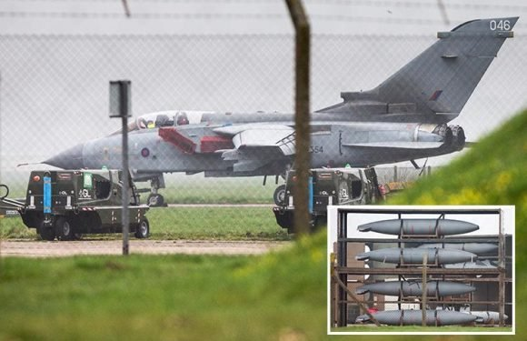 RAF Tornado jets pictured on runway primed for Syria air strikes awaiting green light from Theresa May