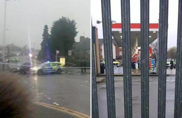Romford shooting leaves man dead as police cordon off petrol station in East London