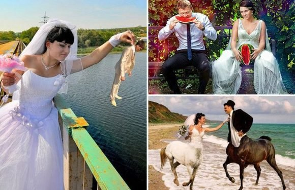 From a melon moment to a really awkward family pose… these Weird Russian wedding photos will make you laugh out loud