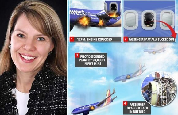 Southwest Airlines mum was sucked out headfirst from plane and hit her FACE on the wing before being dragged back in, witnesses reveal
