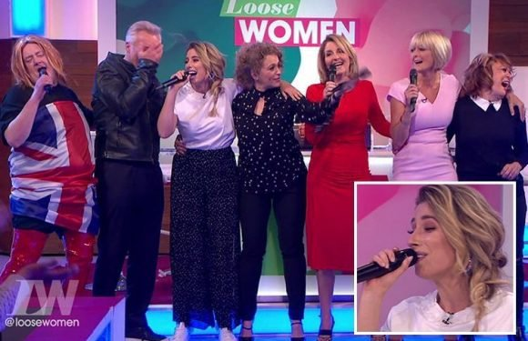 Stacey Solomon sings Spice Girls' song Goodbye with Loose Women in farewell to studio – as Johnny Vegas dresses up as Geri