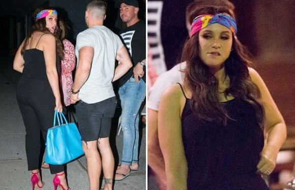 Vicky Pattison looks all partied out as she leaves a restaurant in Australia after a boozy dinner