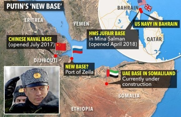 Power-mad Putin 'plotting to build naval base in east Africa near key Suez trade route in new muscle flexing with the West'