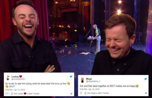 Britain's Got Talent fans share their joy at seeing Ant and Dec back together on screen in pre-recorded series opener