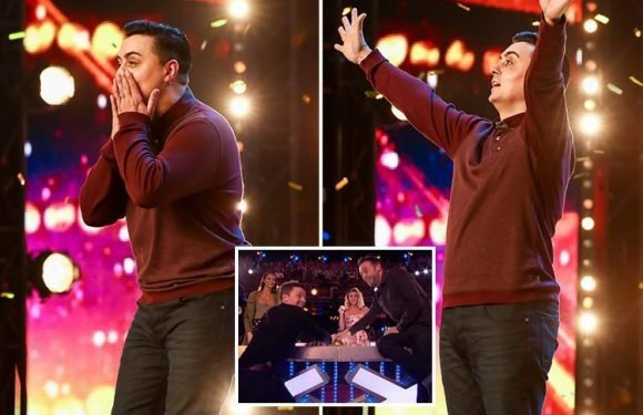 Ant McPartlin and Declan Donnelly give BGT Golden Buzzer to magician Marc Spelmann who's inspired by his miracle baby