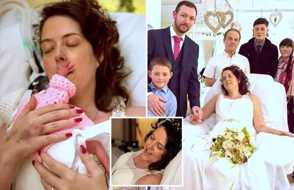 Young mum loses battle with cancer days after giving birth to daughter and marrying love of her life in hospital