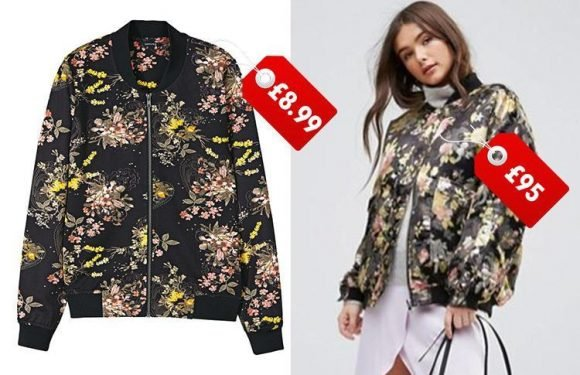 Lidl is now selling a floral bomber jacket which is £86 cheaper than ASOS' version