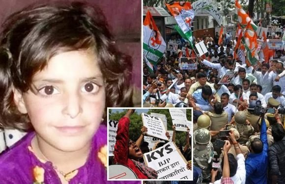 Protests erupt in India after eight-year-old girl is drugged and raped in Hindu temple before being battered to death with a rock