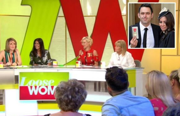 Laila Rouass disgusts Loose Women panel by revealing fiancé Ronnie O'Sullivan cuts his pubes in their garden with scissors