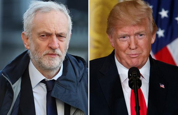 Jeremy Corbyn slams Donald Trump's war rhetoric and says Syria raids will lead to 'more bombing, more killing, more war' as Britain prepares to strike