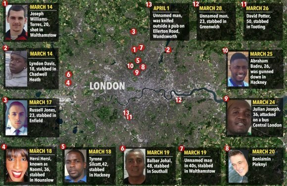 London murder rate overtakes New York for the first time after 15 killings in just one month