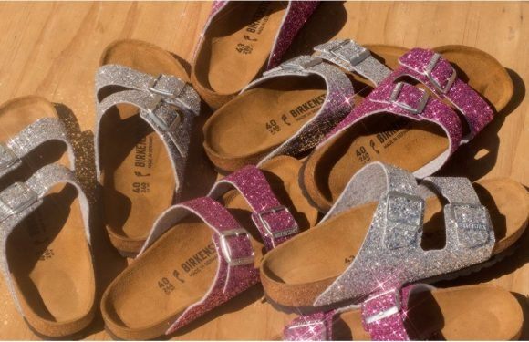 These Glitter Birkenstocks Are So Shiny, They Should Come With Safety Glasses