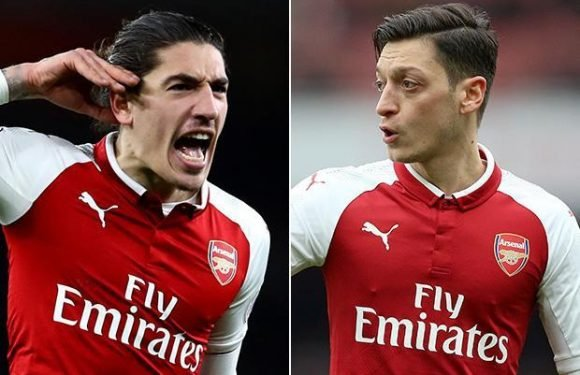 Arsenal stars Hector Bellerin and Mesut Ozil make up after on-field clash against Stoke