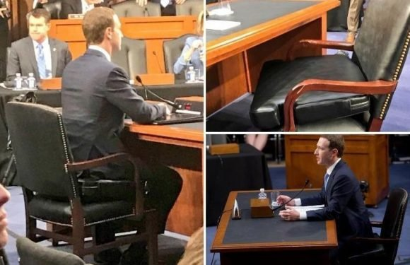 Facebook CEO Mark Zuckerberg sat on huge booster seat during Congress probe