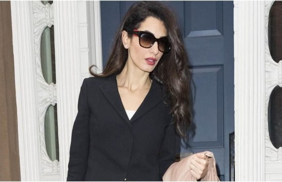 Alert: Amal Clooney's Black Pantsuit Will Make You Want to Rush to the Tailor
