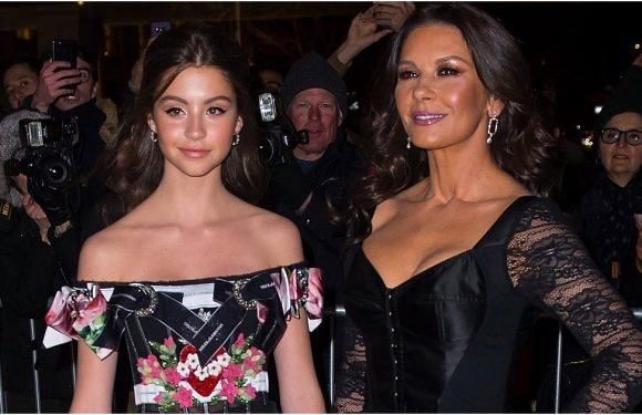 Seeing Double? Catherine Zeta-Jones and Her 14-Year-Old Daughter Are Basically Twins