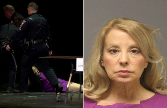 Candidate who wouldn't leave governor's forum dragged off stage, arrested