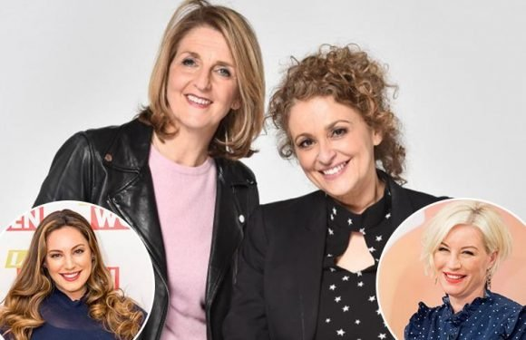 Loose Women's Nadia Sawalha and Kaye Adams joke about becoming 'late-life lesbians' with Kelly Brook and Denise Van Outen