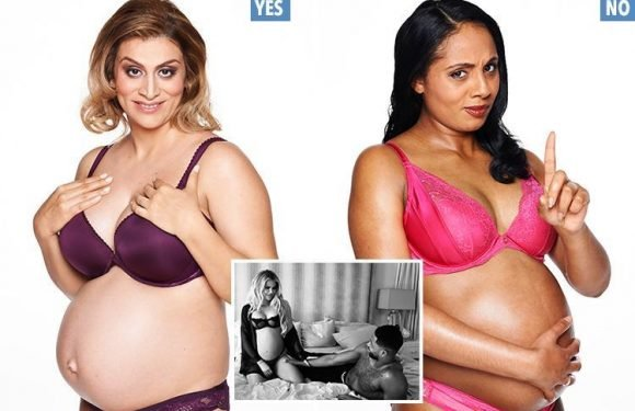 Two expecting mums debate whether pregnancy can ever be a sexy experience for women
