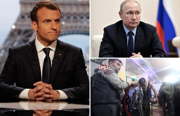 France accuses Russia of trying to cover up Syria poison gas attack saying 'essential evidence' is vanishing as investigators are blocked from site