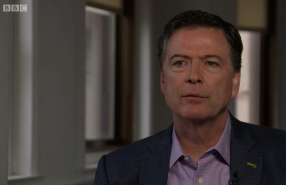 James Comey warns no one 'sensible' in Donald Trump's inner circle to stop his 'impulsive behaviour' in BBC Newsnight interview